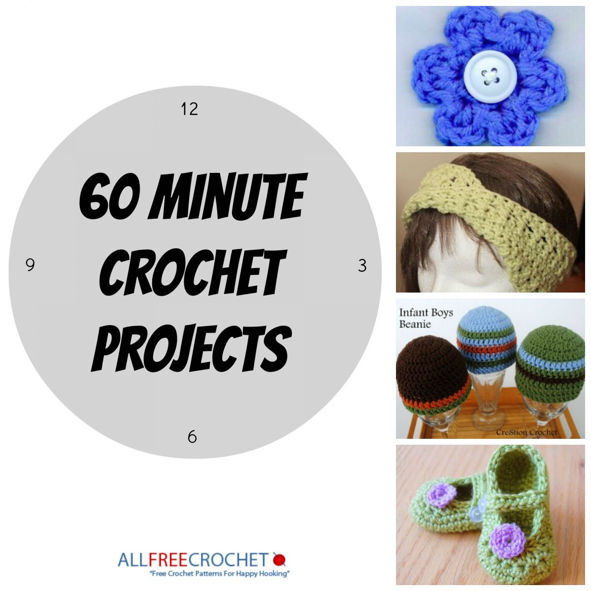 Crochet Quick Projects : ... lunch break making any one of these quick and easy crochet patterns