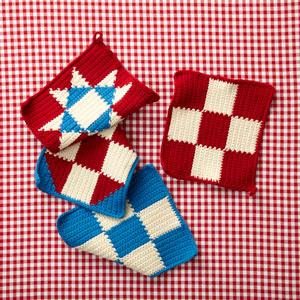 Easy Crochet Potholders in Afghan Stitch - Free Pattern