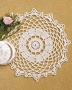 Oval Pineapple Doily Vintage Crochet Pattern by karensvariety