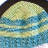 Green and Blue Boy Striped Hat