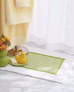 Floral Bath Set - Knitting Patterns and Crochet Patterns from
