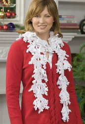 Holiday Snowflake Scarf