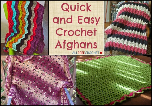 Free Afghan Patterns Crochet Quick Easy : 22 Quick and Easy Crochet Afghans + Bonus Video ...