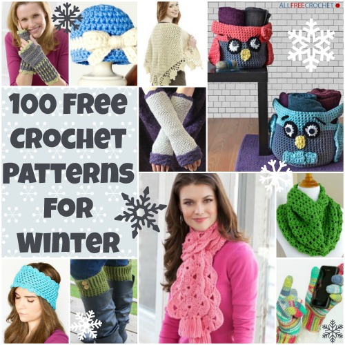 100 Free Crochet Patterns for Winter