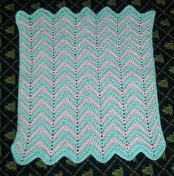 Little Boy Blue 8 Point Round Ripple Baby Afghan | Gather