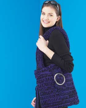 Free Crochet Pattern 515 'Market' Tote Bag : Lion Brand Yarn Company