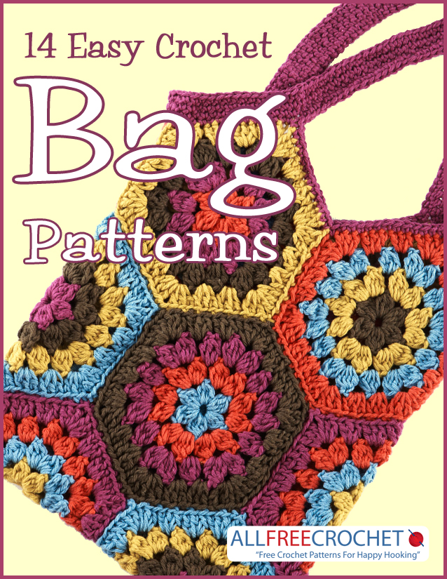 Download your free copy of 14 Easy Crochet Bag Patterns today!