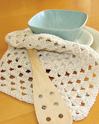 Crochet Granny Square Dishcloth Pattern : 34 Free Crochet Dishcloth Patterns AllFreeCrochet.com