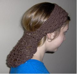 Crocheted Snood Headband