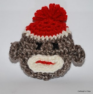 Sock Monkey Ornament Crochet Pattern | Red Heart