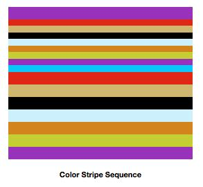 Colorful Chevron Afghan: Color Stripe Sequence