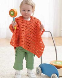 Free Crochet Pattern cts-hood Hooded Baby Poncho : Lion Brand Yarn