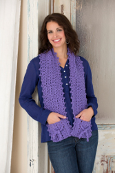 Knitting Pattern For A Scarf With Pockets : Have a Red Heart Holiday: 20 Knit & Crochet Gifts and Decorating Ideas eB...