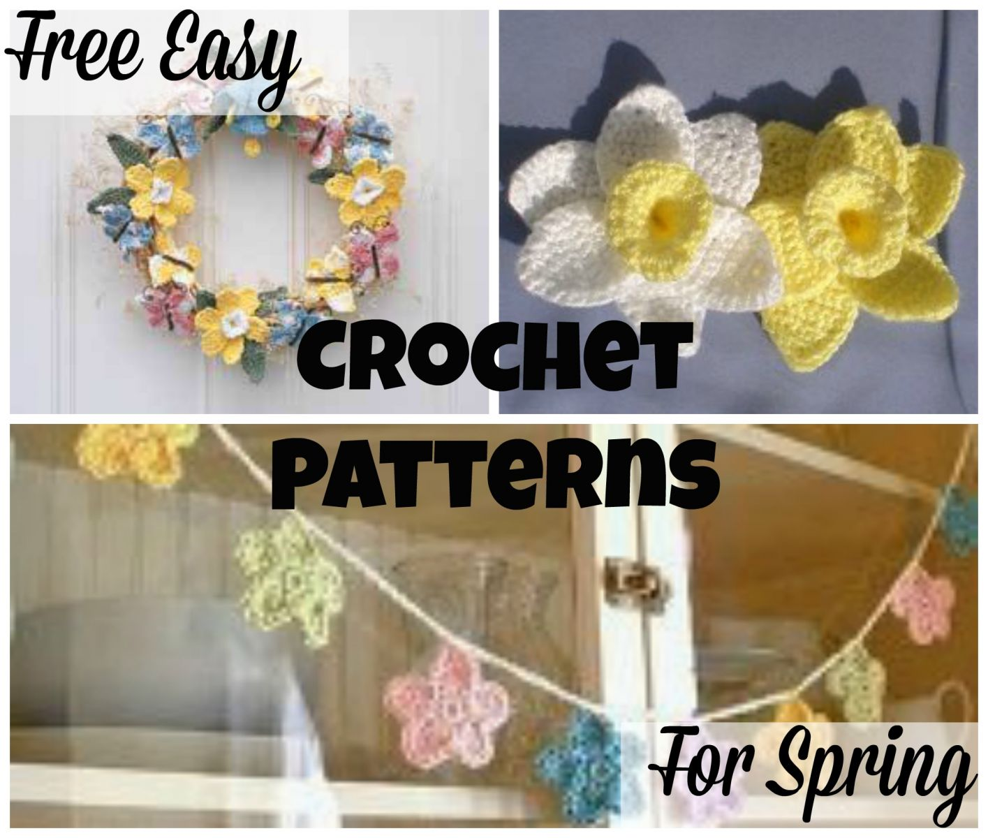 15 Free Easy Crochet Patterns for Spring