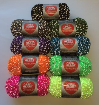 Knitting Patterns For Red Heart Reflective Yarn : New Yarn Trend: Red Heart Reflective Yarn - Stitch and Unwind